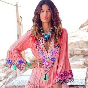 Never Worn.  Spectacular summer tunic.